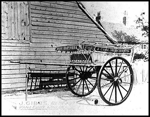 Gibbs cart built for Fear Brothers, coal and corn merchants.
