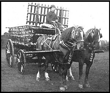A two horse-drawn cart built by Gibbs.