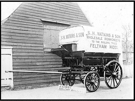 Gibbs delivery van built for S.H. Watkins & Son, ironmongers of Feltham, Middlesex.