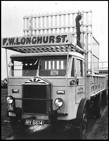Gibbs built body on a lorry belonging to F.W. Longhurst, West Drayton.