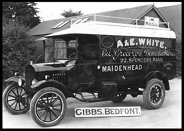 An early van built for A & E White of Maidenhead to deliver a variety of goods to their customers.