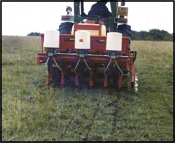 Gibbs designed grass seed drill